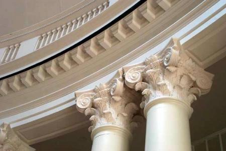 Columns inside the Rotunda at UVa